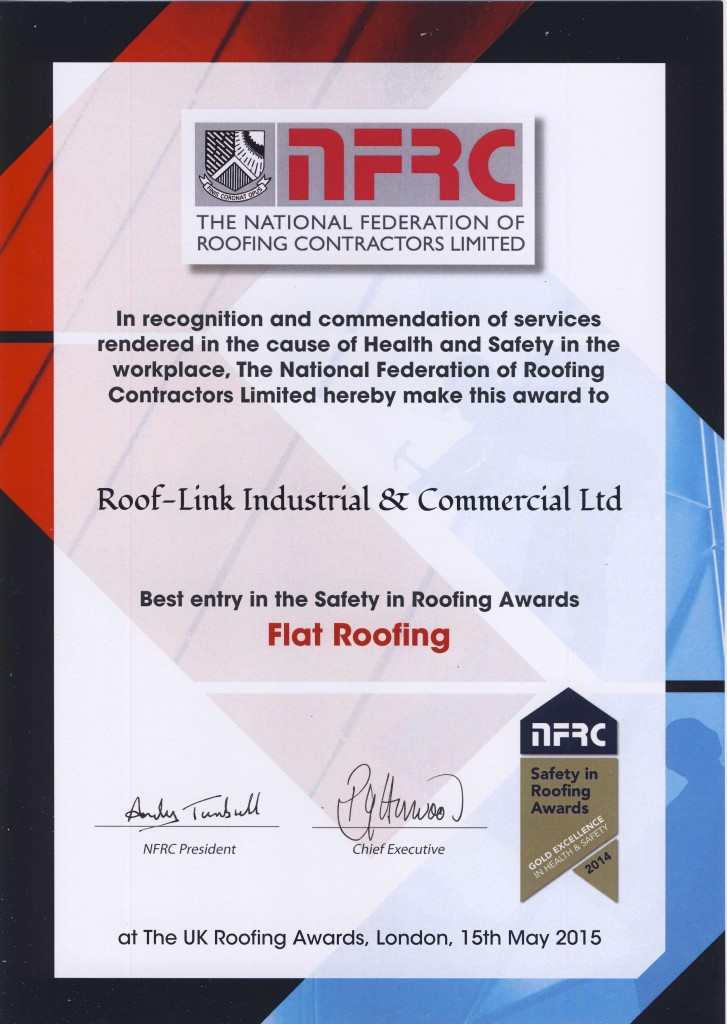 Best Entry Flat Roofing Award 2015